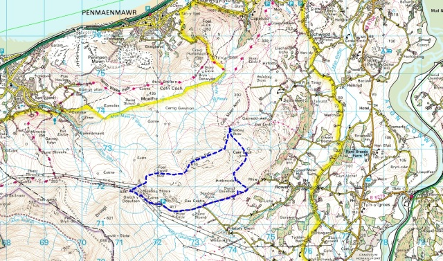 The route (heading clockwise)