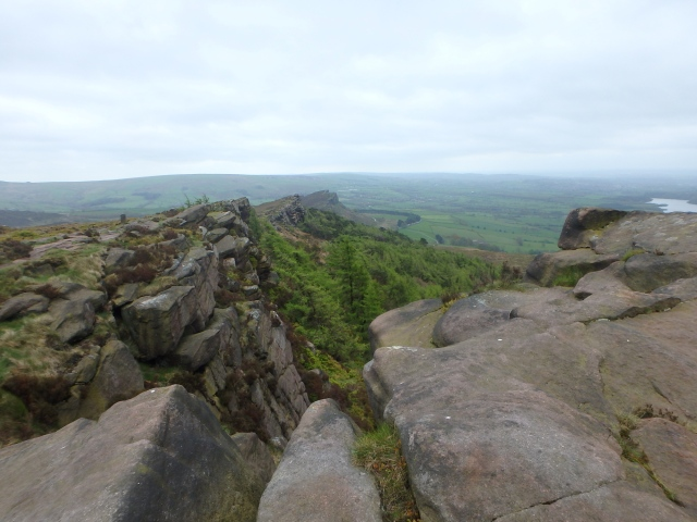 The view south along The Roaches edge