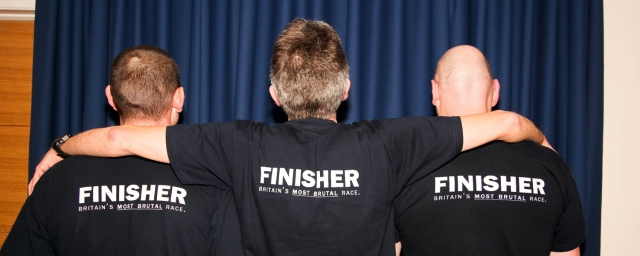2012 finishers Mark Caldwell, Steve Thompson and Gary Morrison
