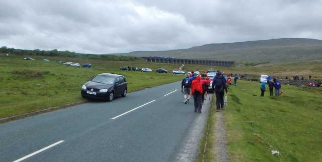 …. and eventually to the first pit stop at Ribblehead