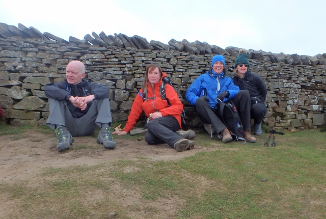On the summit of Whernside, two down and one to go!