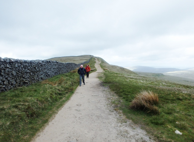The start of the descent from Whernside summit ….