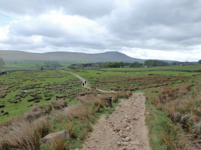 Heading back to the valley, with Ingleborough still a long way off