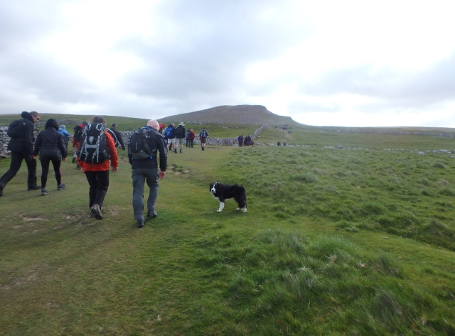 …. and heading for Pen y Ghent, the first peak of the day