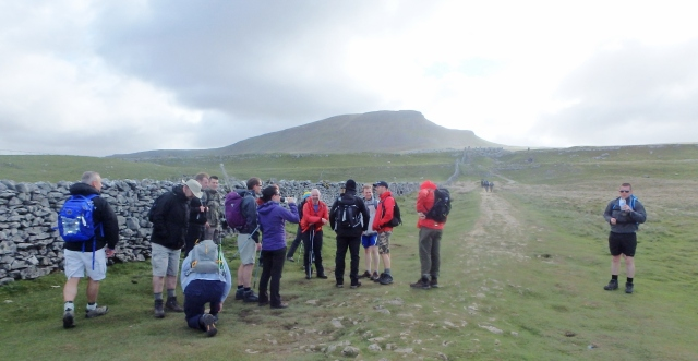 In the early stages, Pen y Ghent dominates the view