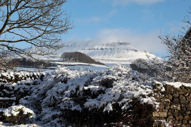 Pen y Ghent with a winter coat