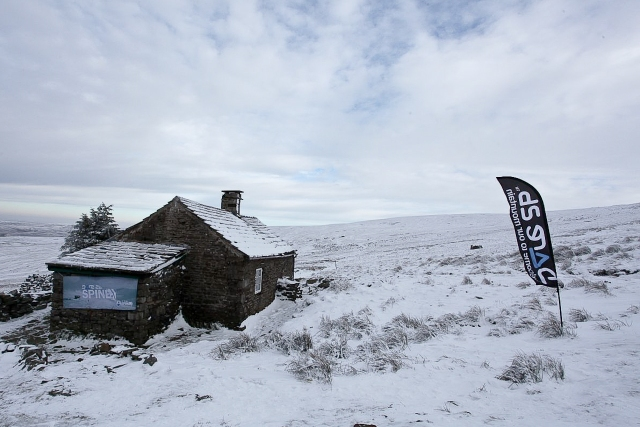 A cold and snowy Greg's Hut, near Cross Fell