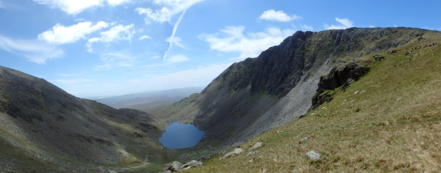 Dow Crag (right) with Goat's Water below