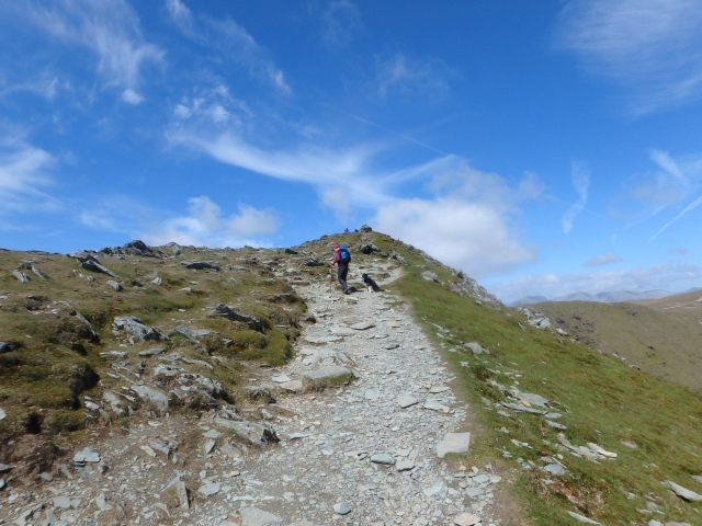 Almost at the summit of Coniston Old Man