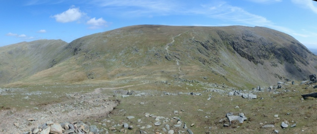Goat's Hause looking back to Coniston Old Man ….