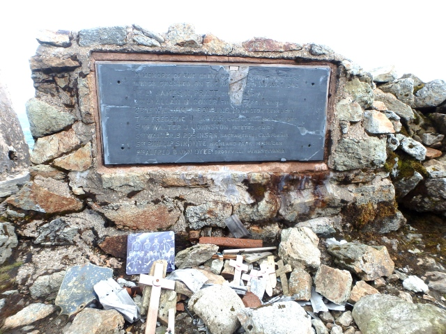 Memorial to the crew of the crashed B17 Flying Fortress ….