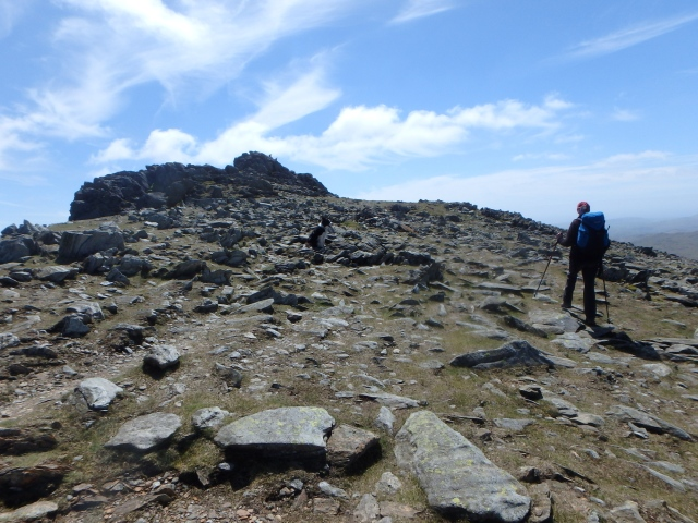 Near the summit of Dow Crag
