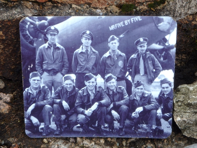 …. with a photograph of the crew