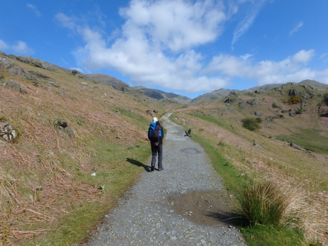 Setting out from the Walna Scar Road