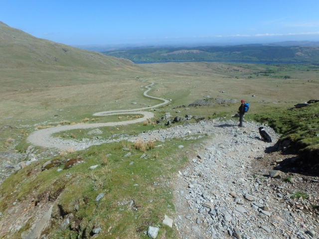 Heading back down the Walna Scar Road