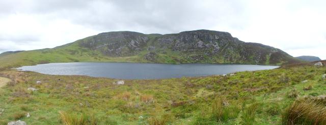 Arenig Fawr above the lake of Llyn Arenig Fawr