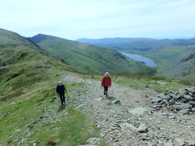 …. with Seathwaite Tarn in the background
