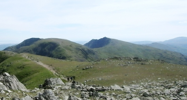 …. with Coniston Old Man (left) and Dow Crag (centre)