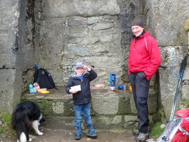 At the summit with Grandad ….
