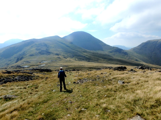 Heading for Great Gable in the distance