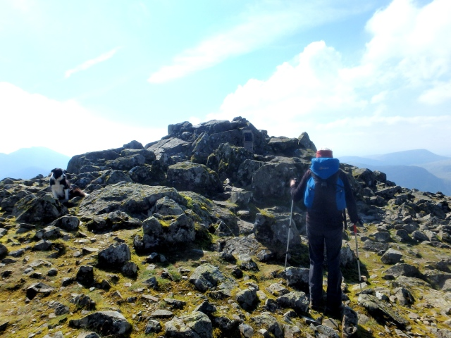 Approaching the summit of Great Gable