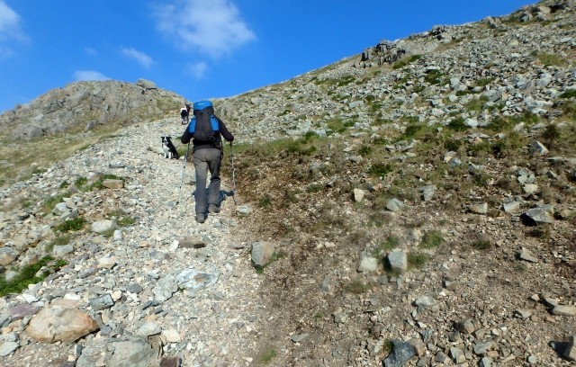 Off the scree at last ….