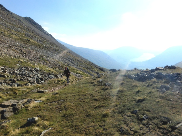 …. and heading up to the col at Beck Head