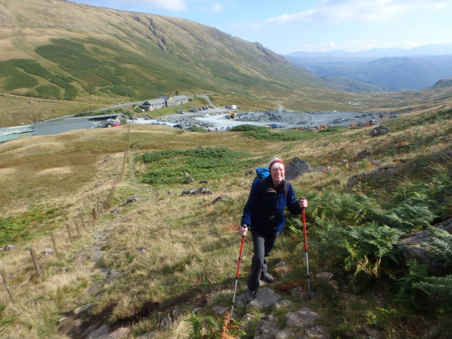 Setting out from Honister ….