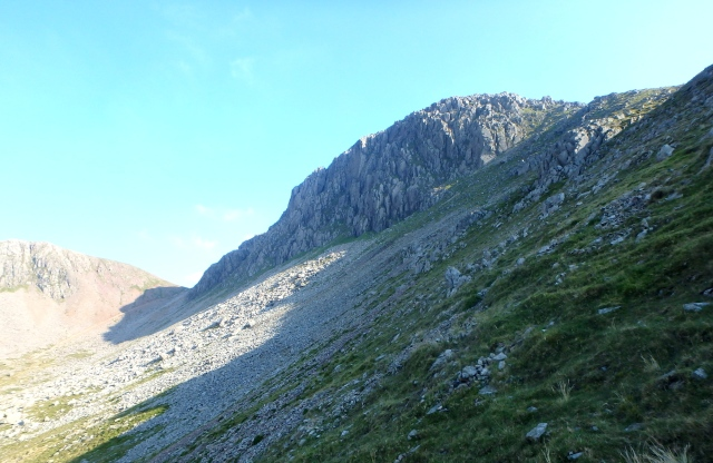 The route back, under the north face of Gable Crags