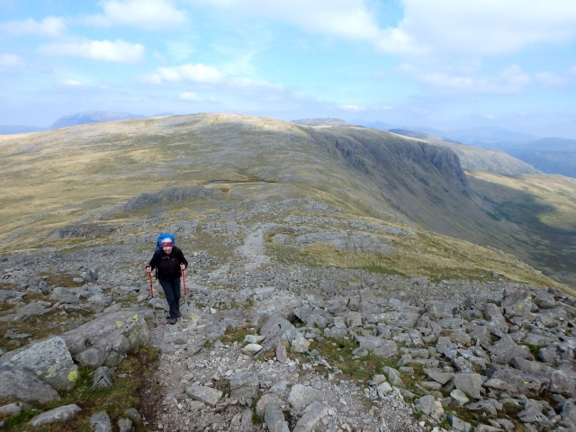 Looking back towards Grey Knotts ….