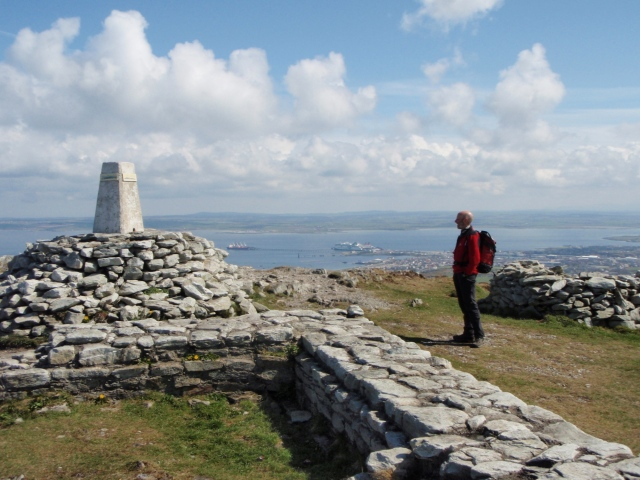 The summit looking east towards the harbour at Holyhead