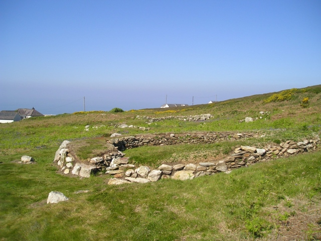 Another of the 20 or so hut circles near South Stack
