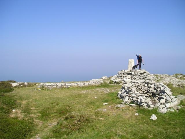 The summit – Mynydd Twr (Tower Mountain)