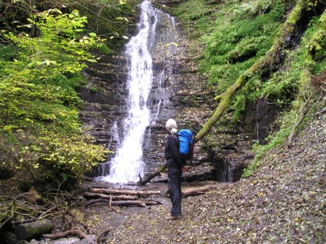 'Water-break-its-neck' waterfall in summer