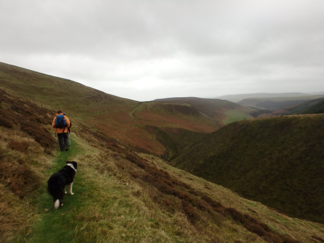 The start of the descent path ….