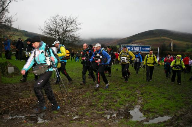 Start of the Spine Race, 'The Most Brutal Race in Britain'