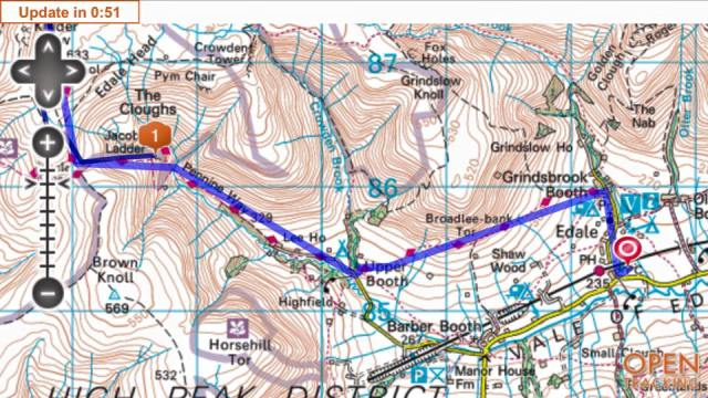 Nearly there! – Javed's tracker [1] showing him at Jacob's Ladder