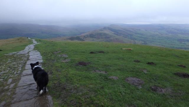 The Great Ridge ahead in the murk