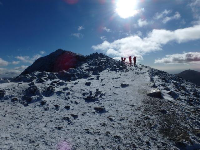 Above Bwlch Glas, heading for the summit of Yr Wyddfa