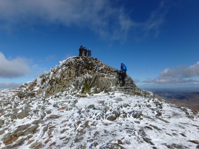 The summit of Yr Wyddfa ….