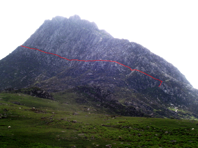 The East Face of Tryfan, showing Heather Terrace