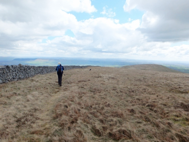 On the way back with Parlick in the distance