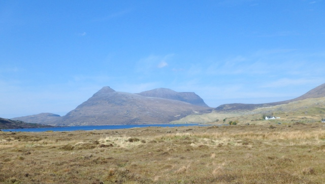 Quinag seen from the southeast, heading for Inchnadamph