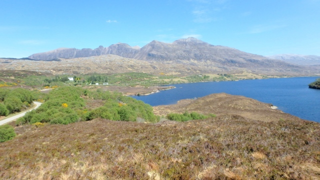 Quinag seen from the west on the road from Lochinver