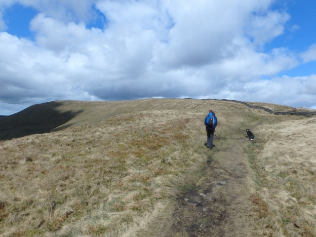 Further up the ridge, with Fairsnape out to the far left