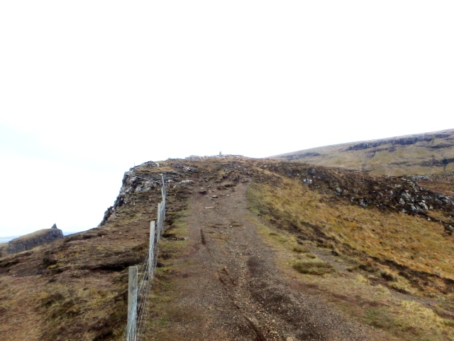 The start of the path above the cliffs ….