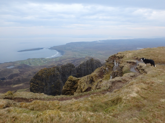 …. with views down to the outward leg