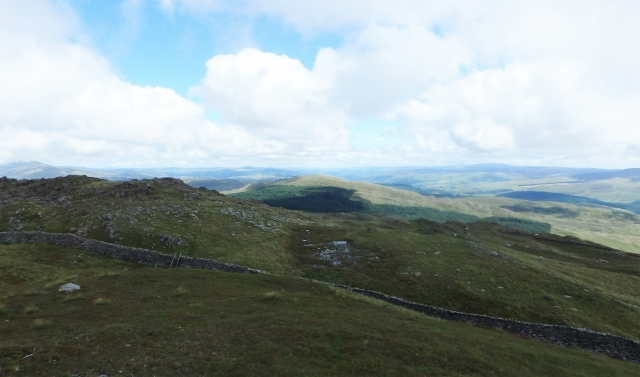 View of Dduallt from Rhobell Fawr