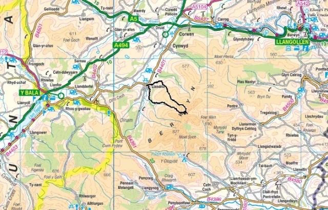 The Berwyns - between Bala and Llangollen