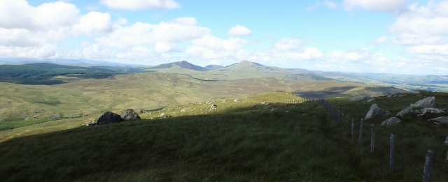 Looking north from Dduallt towards Arenig Fawr (on the right)